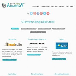 Crowdfunding Resources « Crowdfunding Academy Crowdfunding Academy