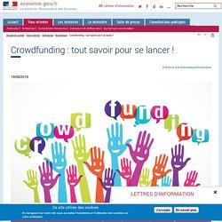 Crowdfunding : le site du gouvernement français