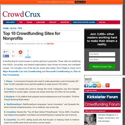 Top 10 Crowdfunding Sites for Nonprofits