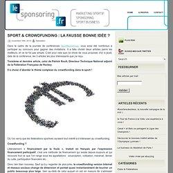 Sport & crowdfunding : la fausse bonne idée ? - Sponsoring