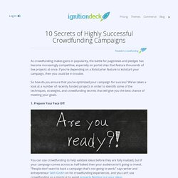 Crowdfunding Secrets: 10 Tips for Highly Successful Campaigns