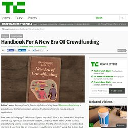 Handbook For A New Era Of Crowdfunding