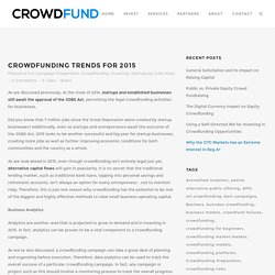 Crowdfunding Trends for 2015