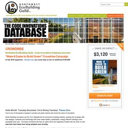 Support Code Innovations Database on Crowdrise
