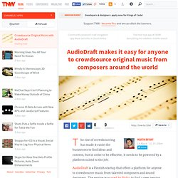 Crowdsource Original Music with AudioDraft