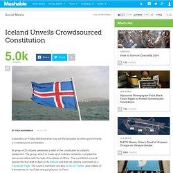 Iceland Unveils Crowdsourced Constitution