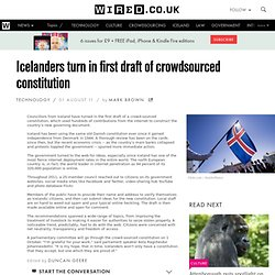 Icelanders turn in first draft of crowdsourced constitution