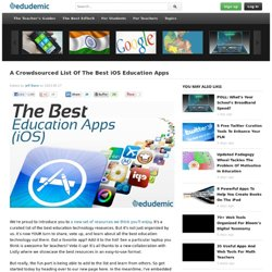 A Crowdsourced List Of The Best iOS Education Apps