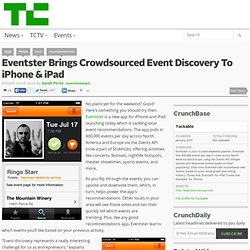 Eventster Brings Crowdsourced Event Discovery To iPhone & iPad