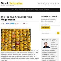 The Top Five Crowdsourcing Mega-trends