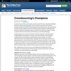 Crowdsourcing's Champions (GE, OMC, SNE, WEN)
