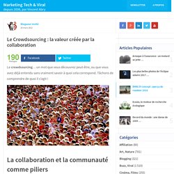 Le Crowdsourcing : la valeur créée par la collaboration