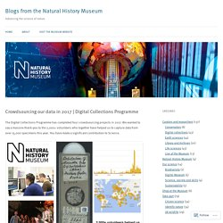 Blogs from the Natural History Museum