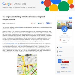 Crowdsourcing road congestion data