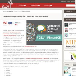 Crowdsourcing Hashtags for Connected Educators Month