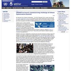 UNOSAT to launch crowdsourcing challenge at Citizen Cyberscience Summit