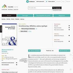 Crowdsourcing : définition, enjeux, typologie