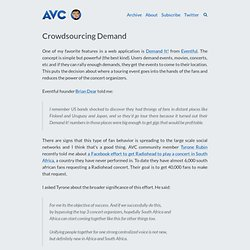 Crowdsourcing Demand