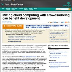 Mixing cloud computing with crowdsourcing can benefit development