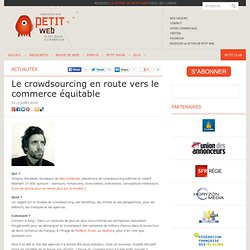 Le crowdsourcing en route vers le commerce équitable