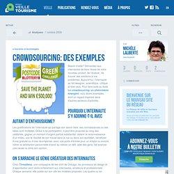» Crowdsourcing: des exemples