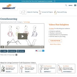 Crowdsourcing Explained by Common Craft