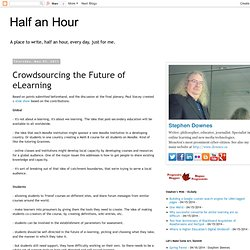 Crowdsourcing the Future of eLearning