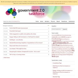 Crowdsourcing | Government 2.0 Taskforce