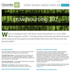 Crowdsourcing definition, crowd wisdom, collective intelligence and how it works - Chaordix