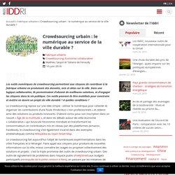 Crowdsourcing urbain : le numérique au service de la ville durable ? - Iddri Blog