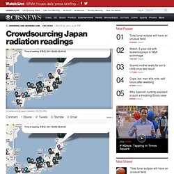 Crowdsourcing Japan radiation readings - Tech Talk