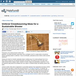Unilever Crowdsourcing Ideas for a Sustainable Shower