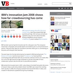 IBM's Innovation Jam 2008 shows how far crowdsourcing has come