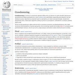 Crowdsourcing - Wikipédia