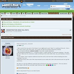 Crowdstruction [Read full post!] - Minecraft Forums