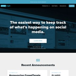 Content Discovery and Social Monitoring Made Easy