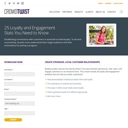 CrowdTwist E-Book - 25 Loyalty and Engagement Stats You Need to Know