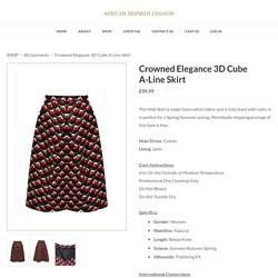 Crowned Elegance 3D Cube A-Line Skirt