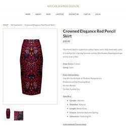 Crowned Elegance Red Pencil Skirt