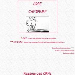 * CRPE et CAFIPEMF *