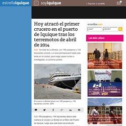 Hoy atracó el primer crucero en el puerto de Iquique tras los terremotos de abril de 2014
