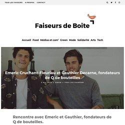 Emeric Cruchant Fleuriau et Gauthier Decarne, fondateurs de Q de bouteilles