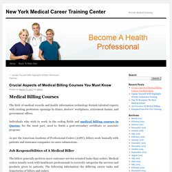 Know About Medical Billing Courses