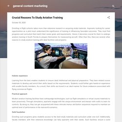 Crucial Reasons To Study Aviation Training