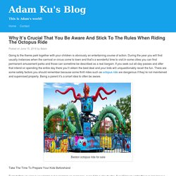 Why It's Crucial That You Be Aware And Stick To The Rules When Riding The Octopus Ride