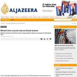 Merkel wins crucial vote on Greek bailout - Business