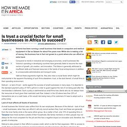 Is trust a crucial factor for small businesses in Africa to succeed?