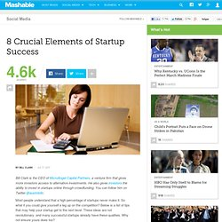 8 Crucial Elements of Startup Success