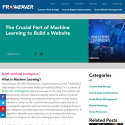 The Crucial Part of Machine Learning to Build a Website