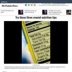 Try these three crucial nutrition tips - News - Gadsden Times - Gadsden, AL